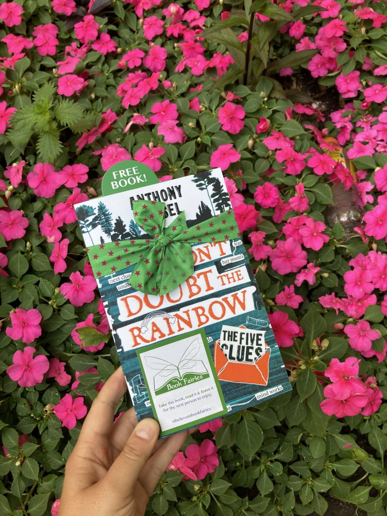 The Five Clues by Anthony Kessel hidden by book fairies in London