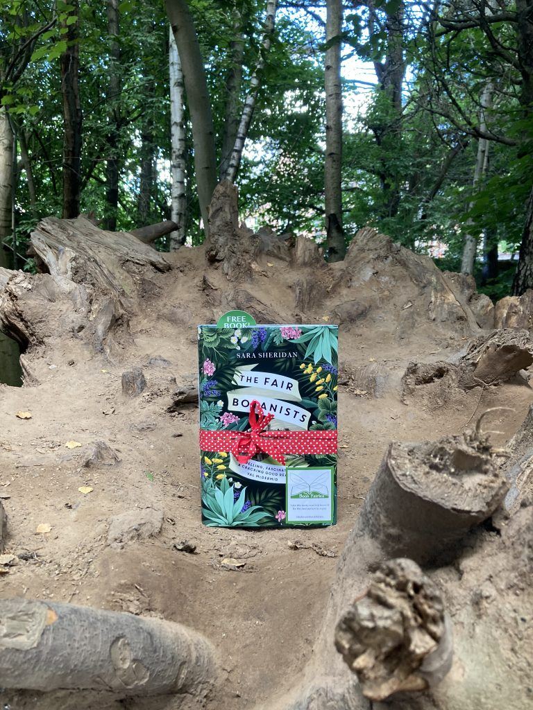 The Fair Botanists makes an early release with The Book Fairies - at a tree trunk
