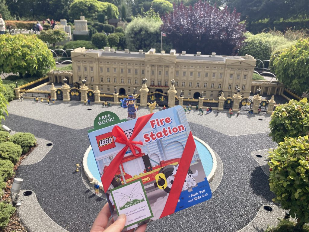 LEGOCity books hidden by book fairies at LEGO locations at LEGO Buckingham Palace