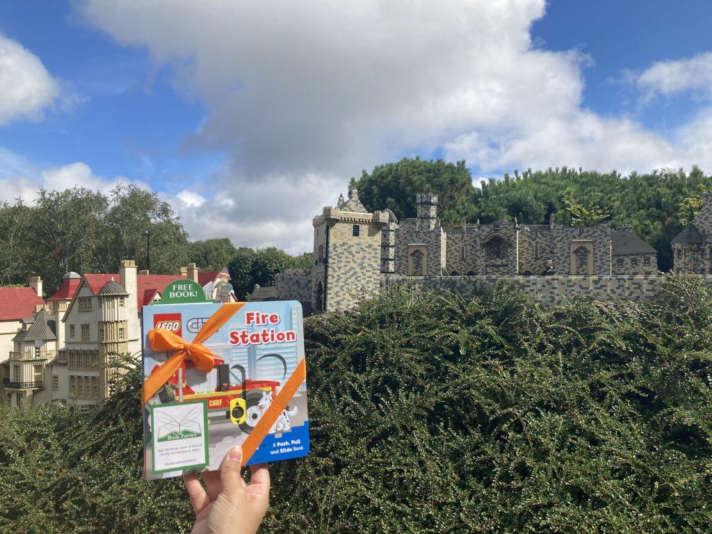 LEGOCity books hidden by book fairies at LEGO locations at Miniland in LEGOLAND