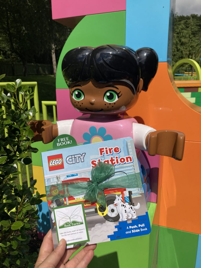 LEGOCity books hidden by book fairies at LEGO locations - Duplo area in LEGOLAND