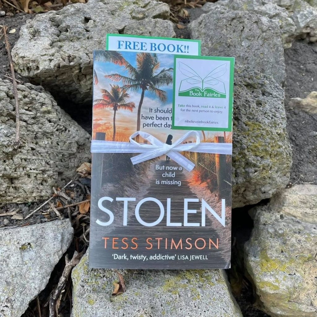 Book Fairies share copies of Stolen by Tess Stimson in south Shields