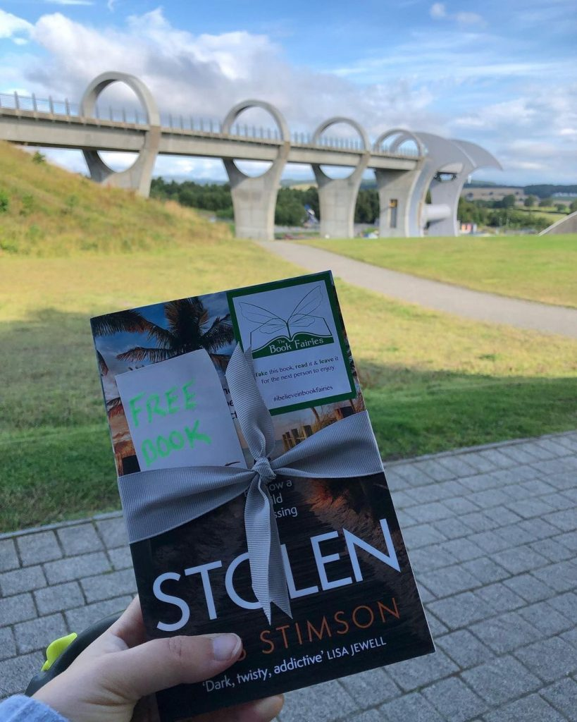 Book Fairies share copies of Stolen by Tess Stimson in Falkirk