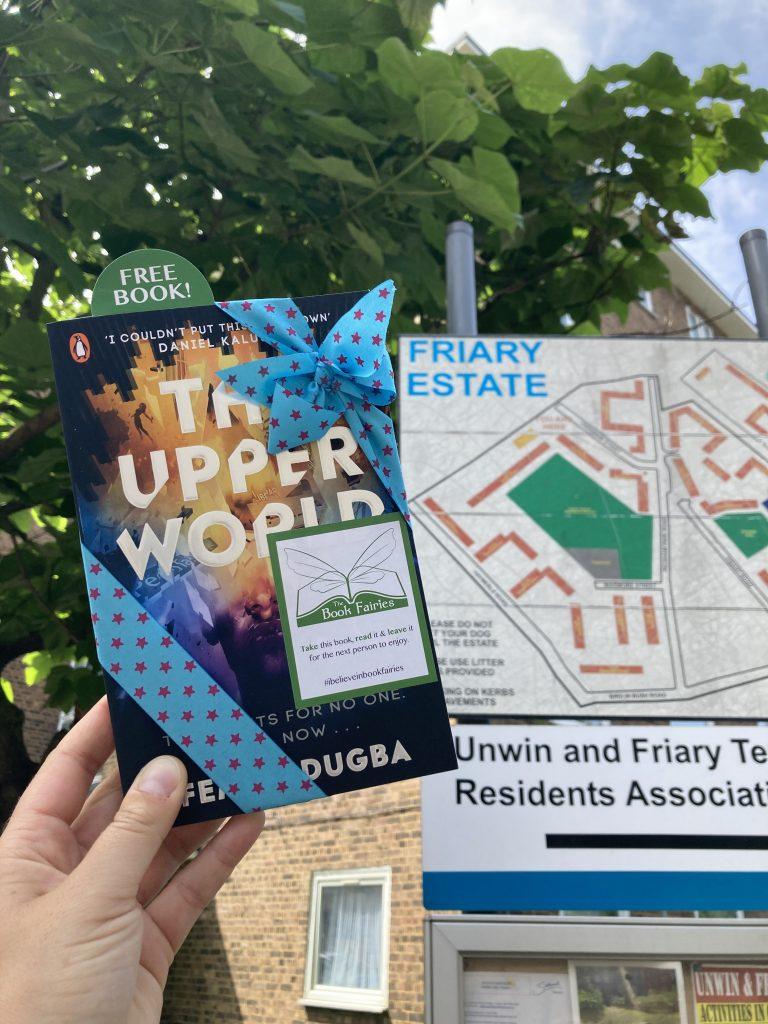Book Fairies follow the plot of The Upper World by Femi Fatugba at Friary Estate, Peckham