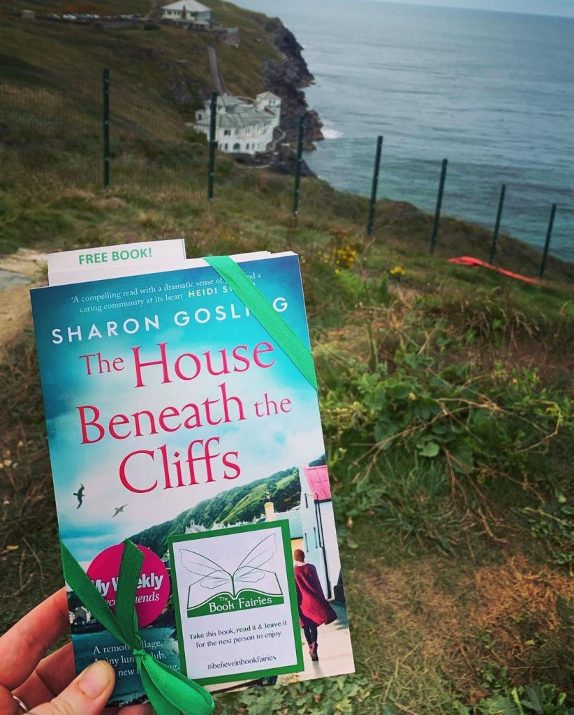 Book fairies leave copies of The House Beneath the Cliffs by Sharon Gosling in Cornwall