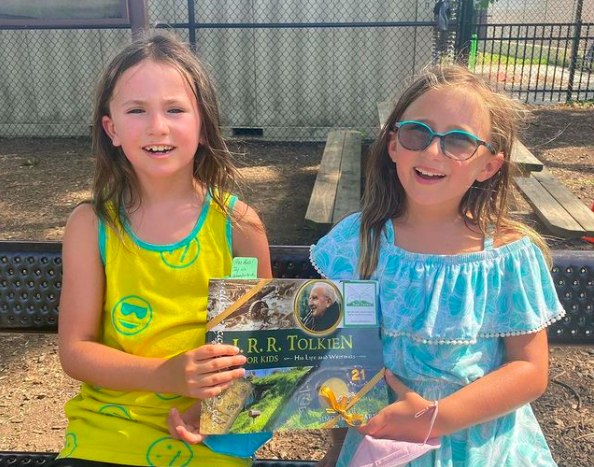 The Book Fairies share copies of J. R. R. Tolkien For Kids - happy finders
