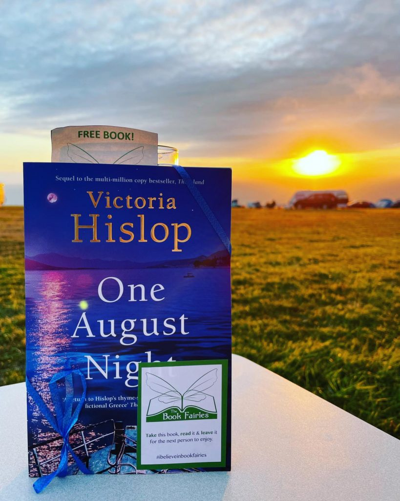 Book Fairies leave copies of One August Night by Victoria Hislop in Cornwall
