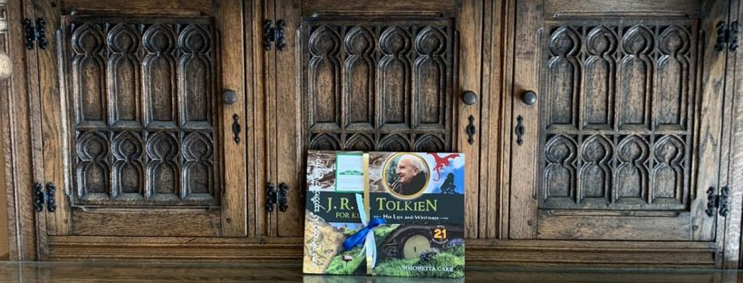 The Book Fairies share copies of J. R. R. Tolkien For Kids in a museum