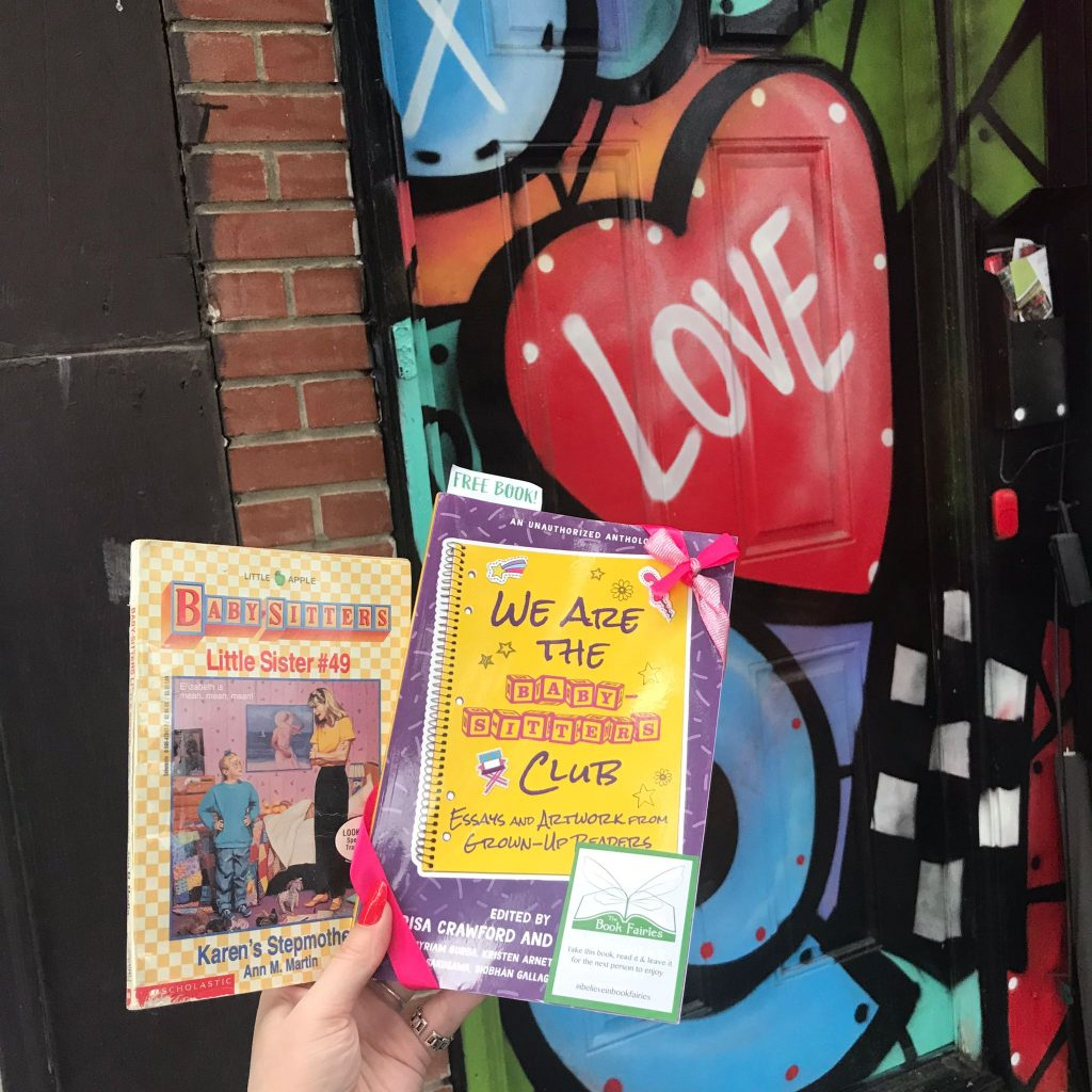 Book Fairies in the US share copies of We Are The Babysitter's Club at graffiti