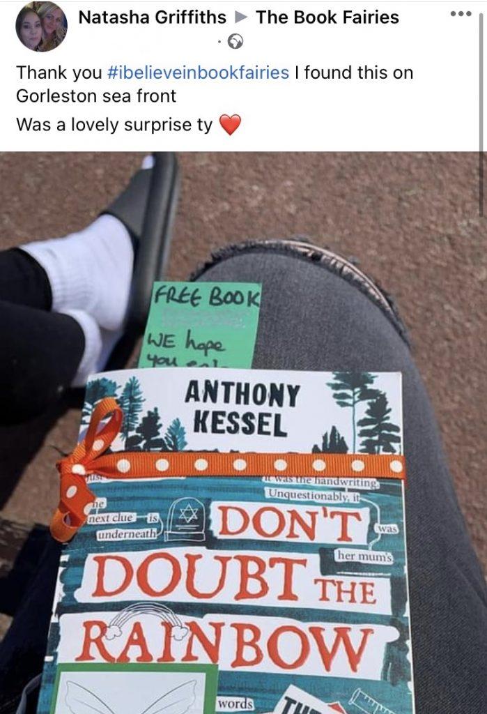The Five Clues by Anthony Kessel hidden by book fairies - book found