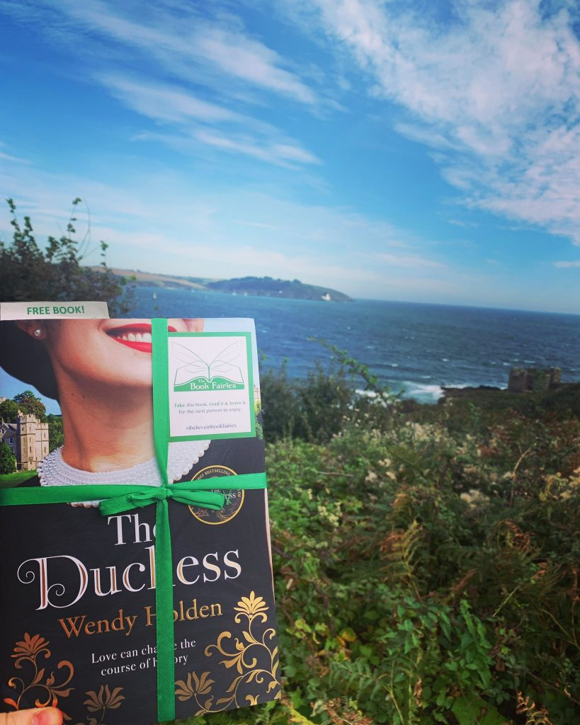 The Duchess by Wendy Holden is hidden by book fairies - Cornwall