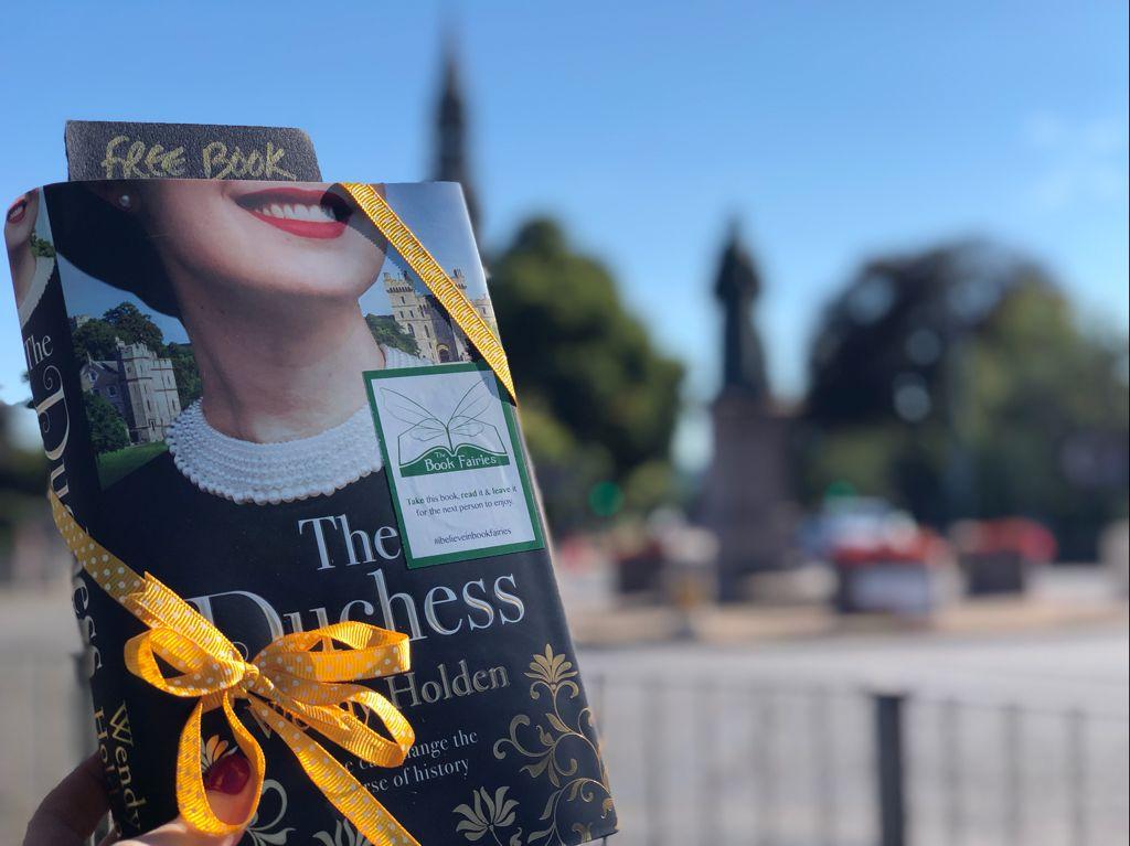 The Duchess by Wendy Holden is hidden by book fairies - Bath