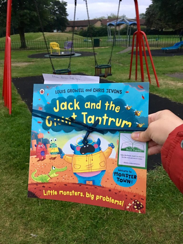 Jack and the Giant Tantrum hidden by The Book Fairies in kids playgrounds