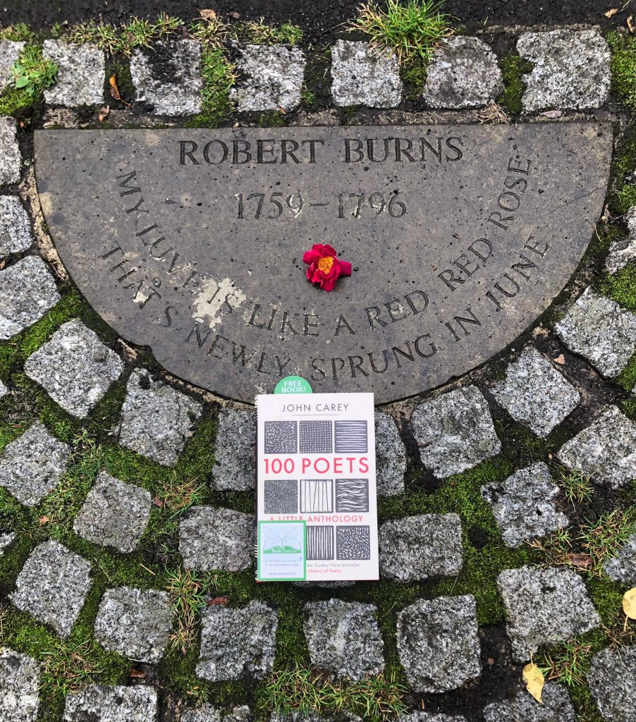 Book Fairies hide 100 Poets by John Carey - Robert Burns memorial