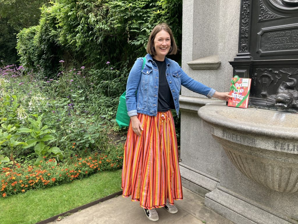 Author Freya Sampson becomes Book Fairy for a Day with The Last Library in Victoria Embankment Gardens
