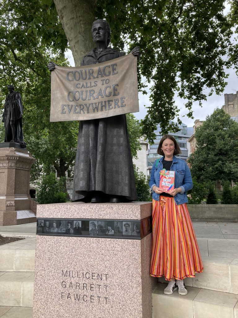 Author Freya Sampson becomes Book Fairy for a Day with The Last Library at Parliament Square