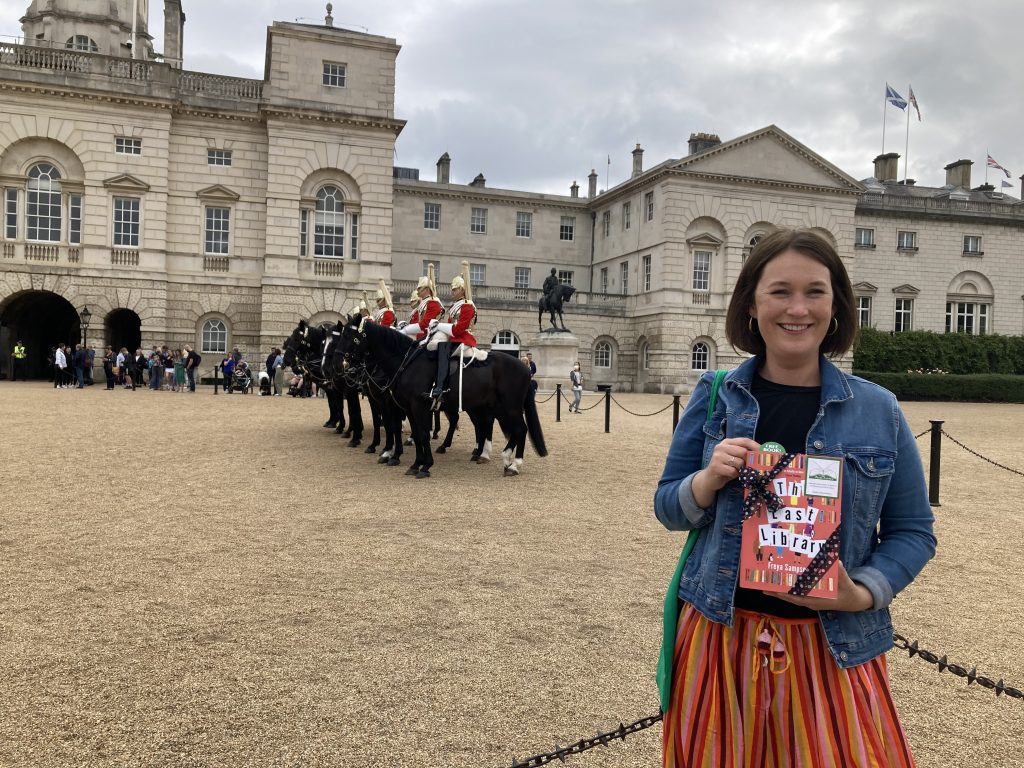 Author Freya Sampson becomes Book Fairy for a Day with The Last Library at Horse Guards Parade