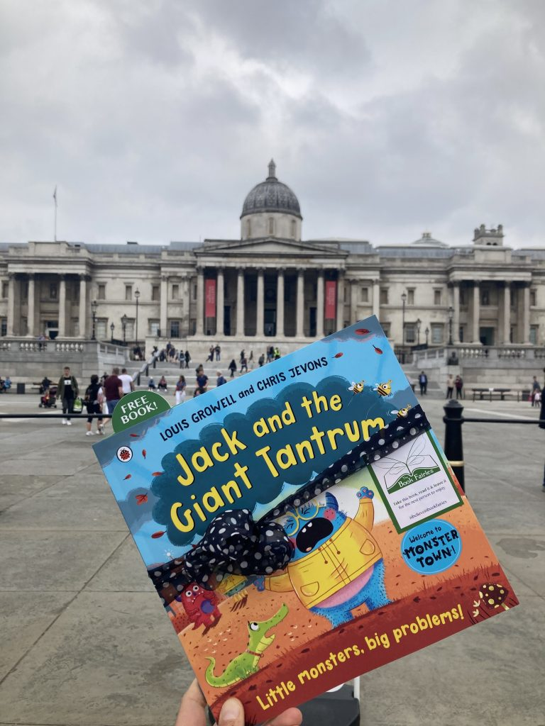 Jack and the Giant Tantrum hidden by The Book Fairies at the National Gallery