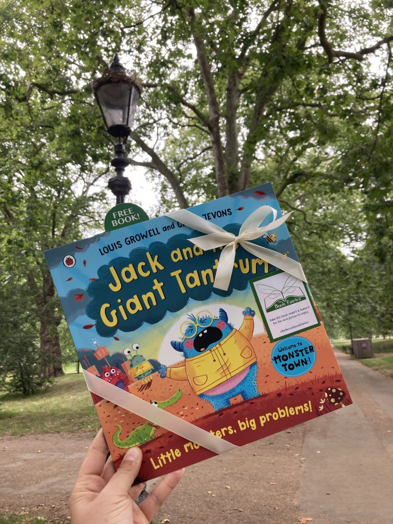 Jack and the Giant Tantrum hidden by The Book Fairies in Green Park