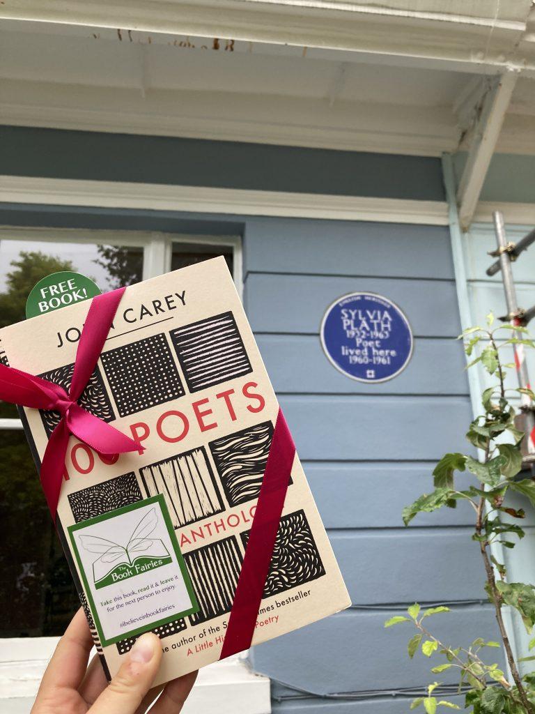 Book Fairies hide 100 Poets by John Carey - Sylvia Plath's house