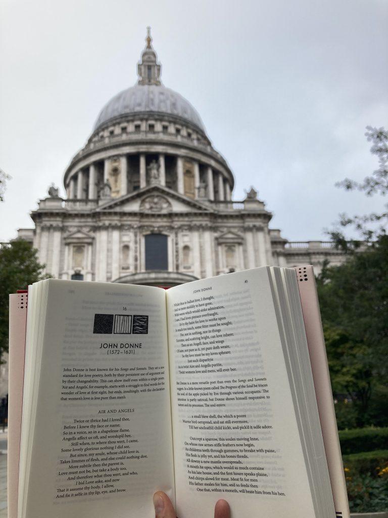 Book Fairies hide 100 Poets by John Carey at St Paul's