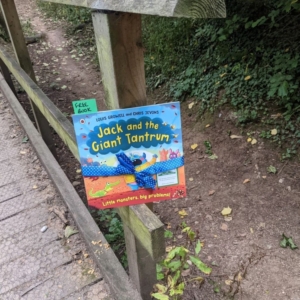 Jack and the Giant Tantrum hidden by The Book Fairies in the woods
