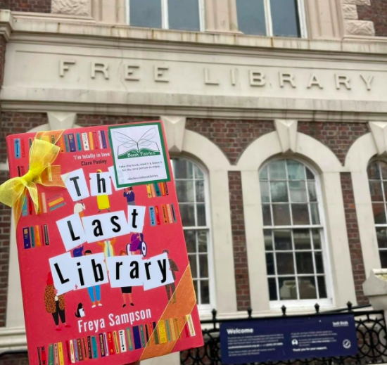 Book Fairies hide copies of The Last Library by Freya Sampson at Falkirk Library
