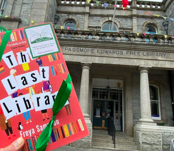 Book Fairies hide copies of The Last Library by Freya Sampson at a library in Cornwall