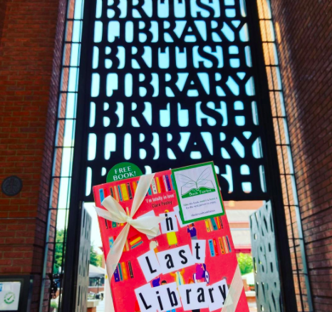 Book Fairies hide copies of The Last Library by Freya Sampson at the British Library