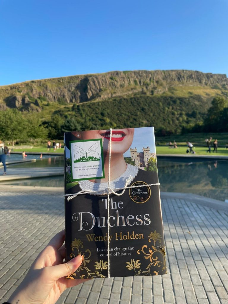 The Duchess by Wendy Holden is hidden by book fairies near Holyrood