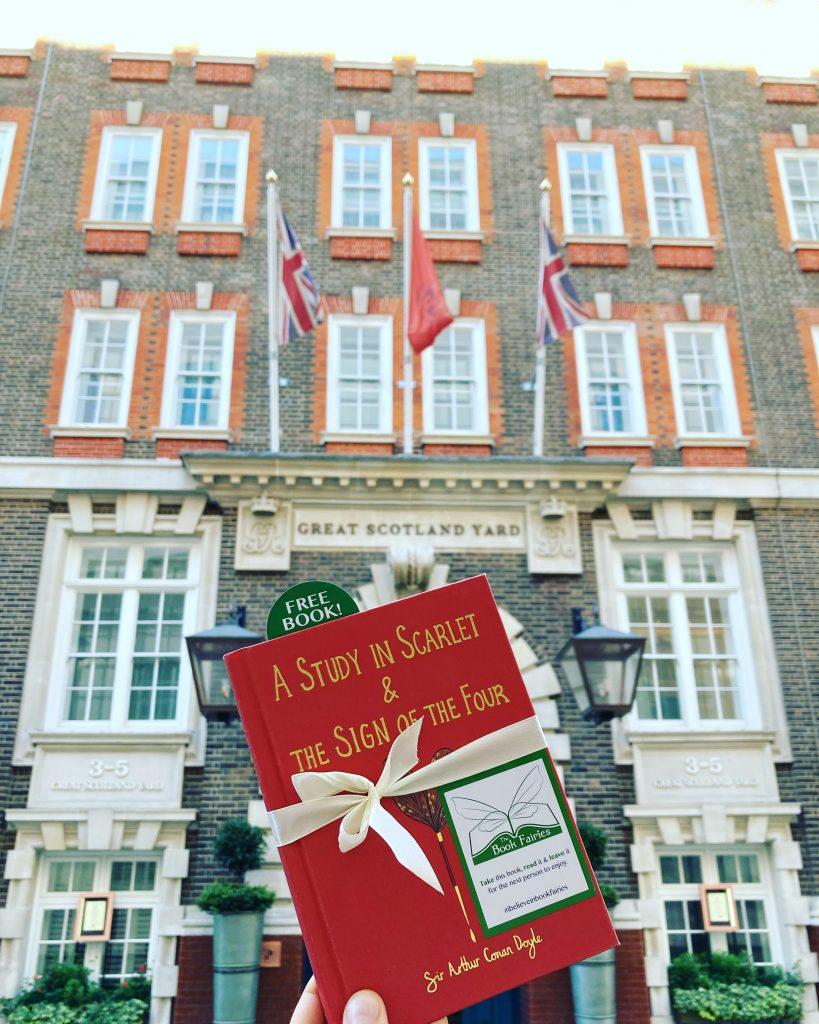 Sherlock Holmes from Wordsworth hidden by book fairies - Great Scotland Yard
