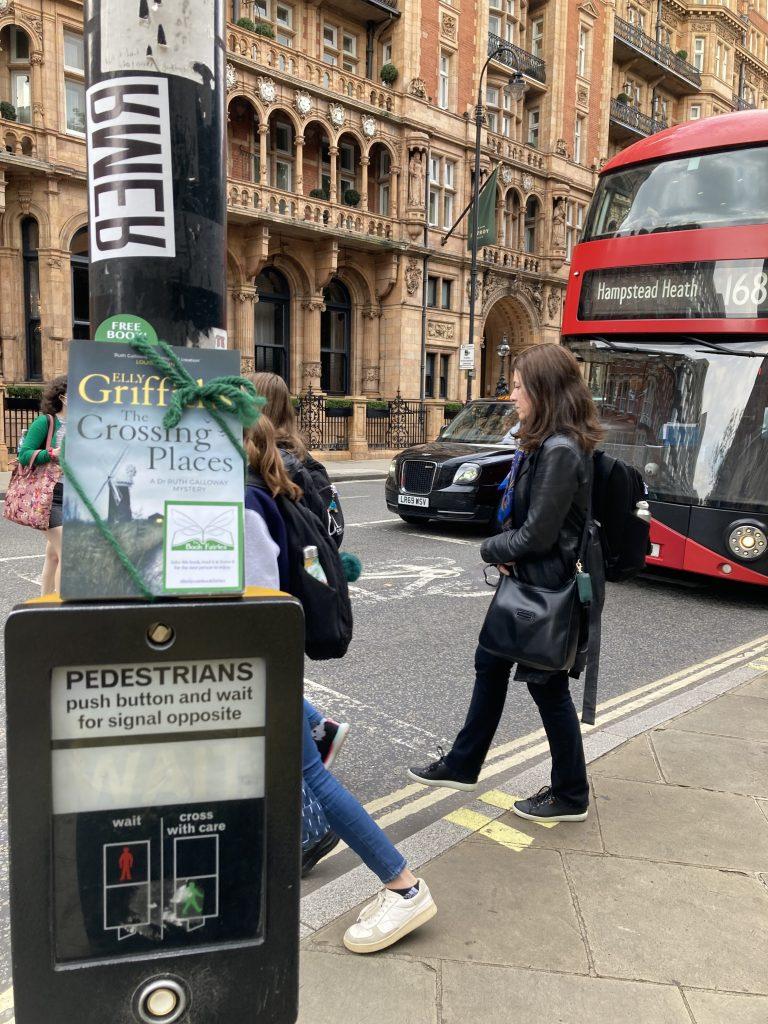 Book fairies hide Quercus books in the UK - London