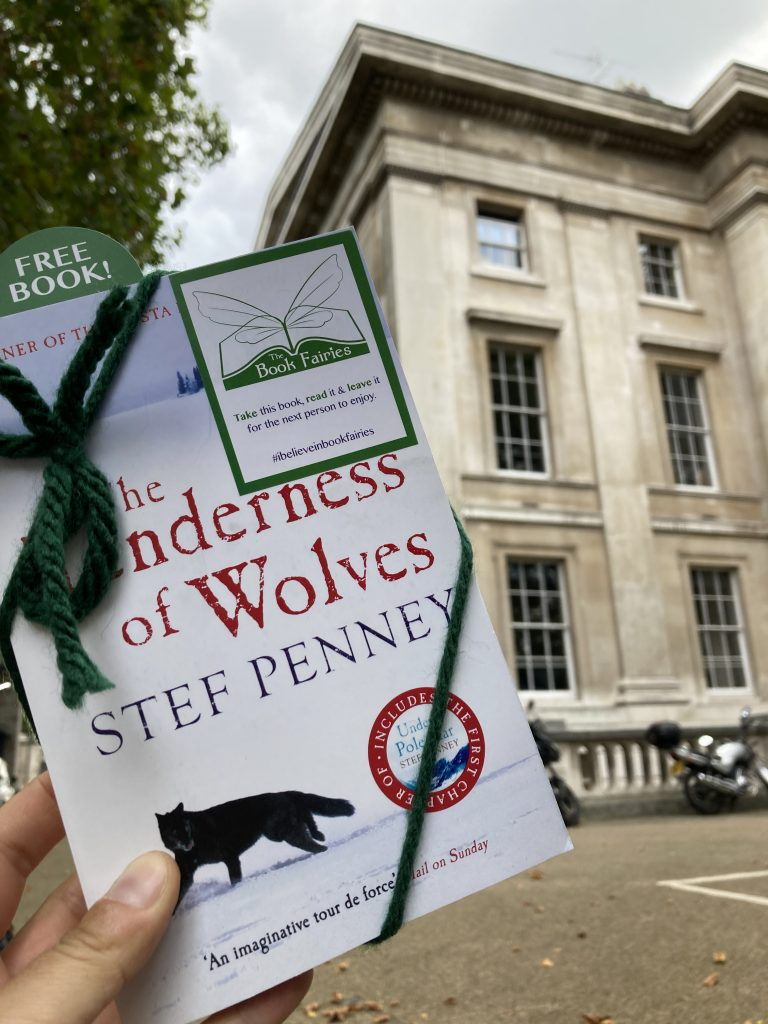 Book fairies hide Quercus books in the UK - St James' Park London