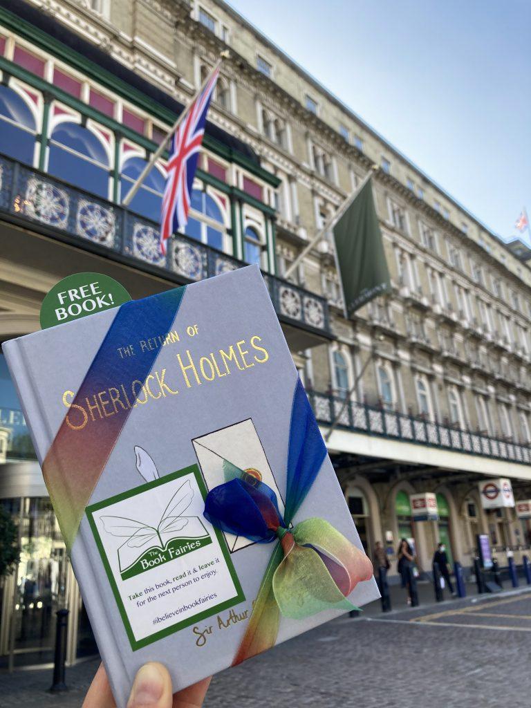 Sherlock Holmes from Wordsworth hidden by book fairies - Charing Cross