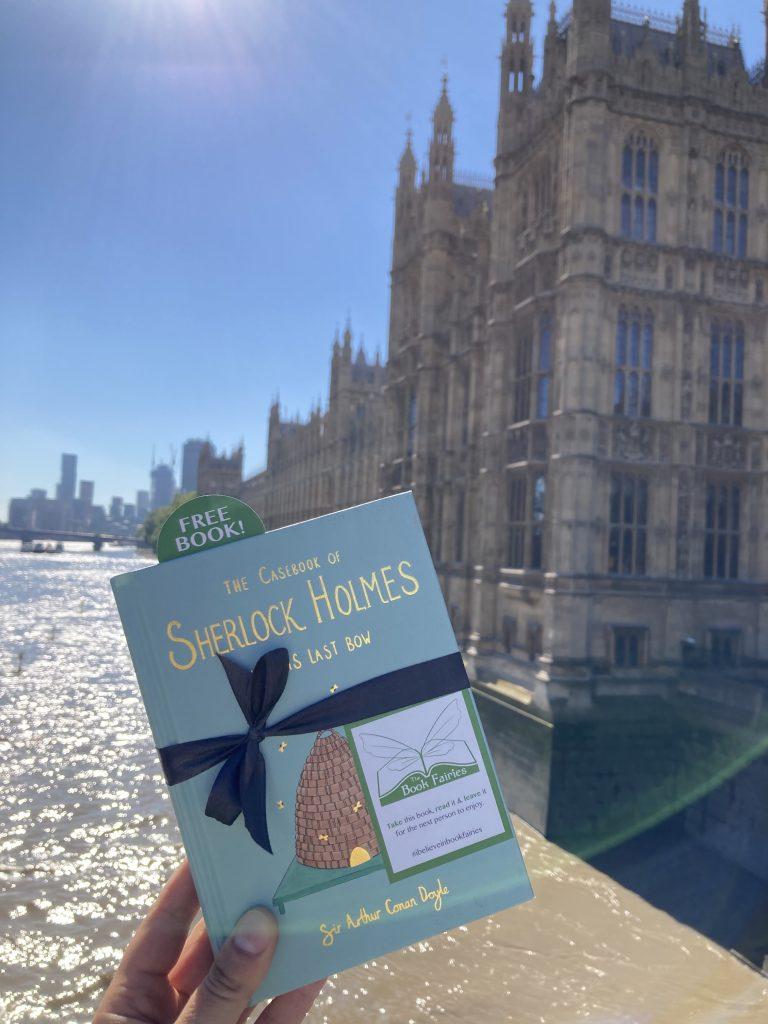 Sherlock Holmes from Wordsworth hidden by book fairies - Westminster