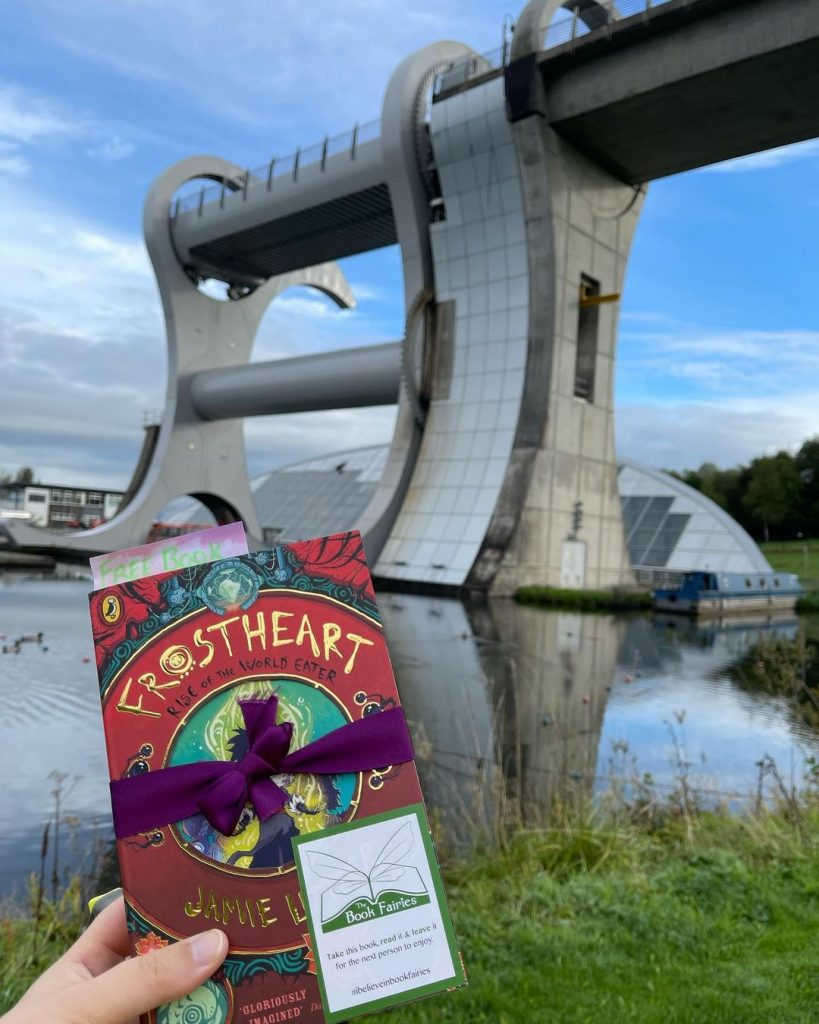 Frostheart 3 left at great locations by book fairies - Scotland