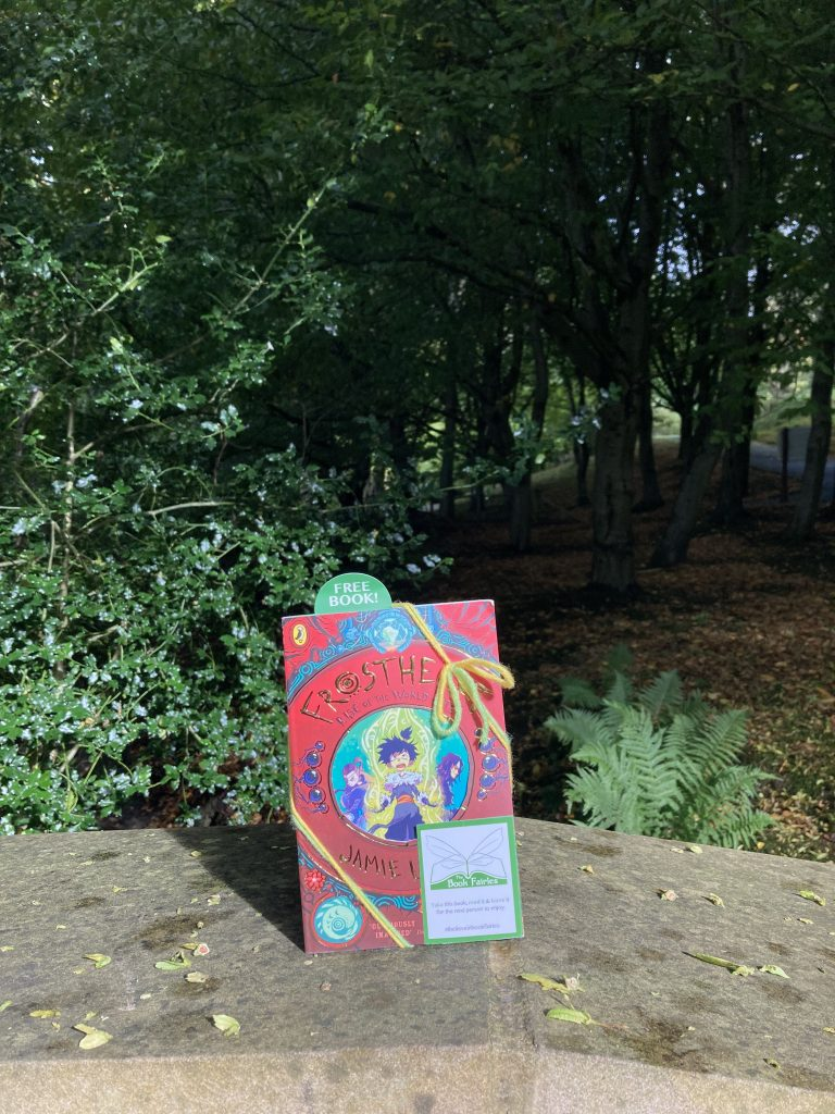 Frostheart 3 left at great locations by book fairies - Durham Botanic Garden