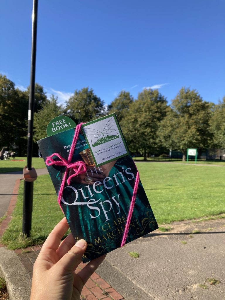 Book Fairies hide Avon Books around the UK -Queen's Spy