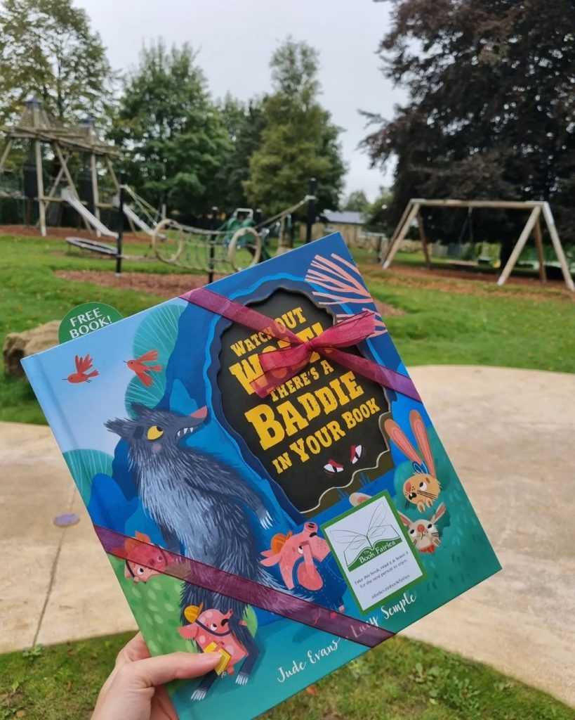 Watch Out Wolf There's A Baddie In Your Book - hidden by book fairies at a playground