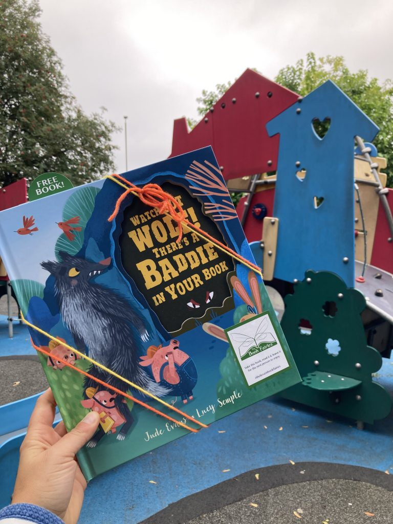 Watch Out Wolf There's A Baddie In Your Book - hidden by book fairies - playground