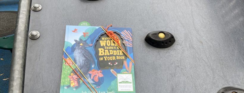 Watch Out Wolf There's A Baddie In Your Book - hidden by book fairies - play area