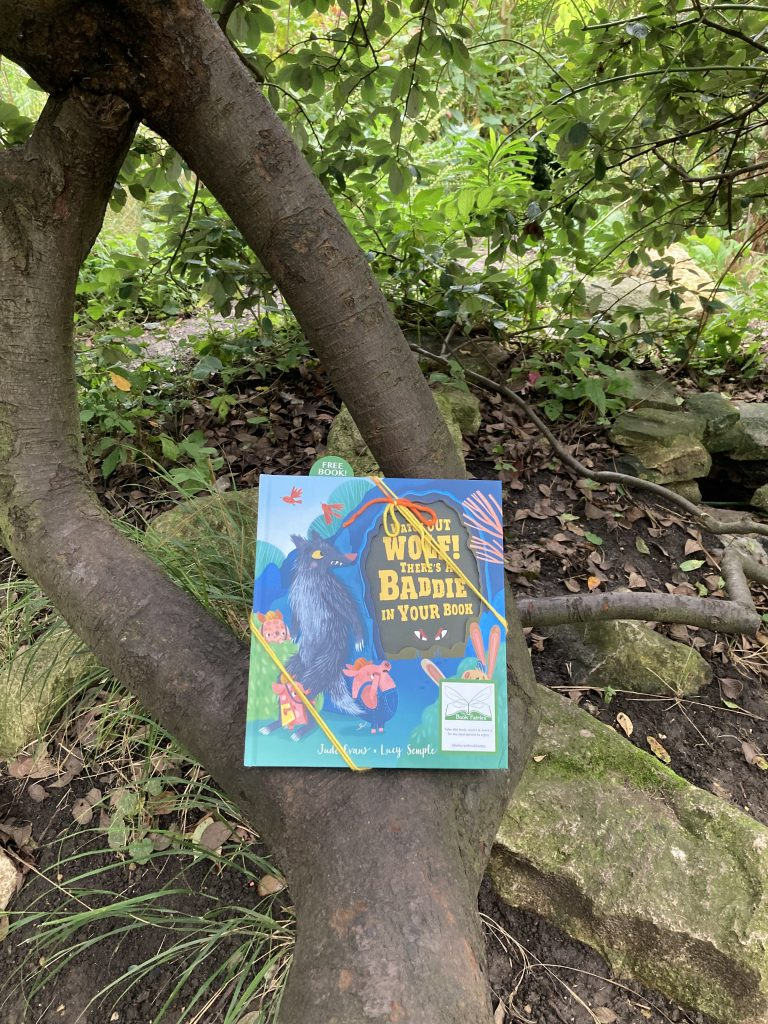 Watch Out Wolf There's A Baddie In Your Book - hidden by book fairies -tree