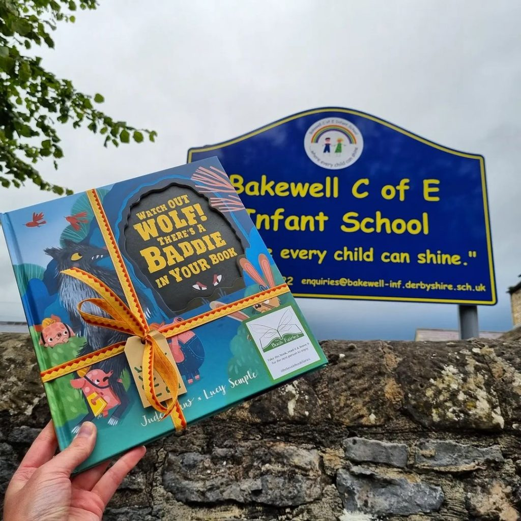 Watch Out Wolf There's A Baddie In Your Book - hidden by book fairies - Bakewell