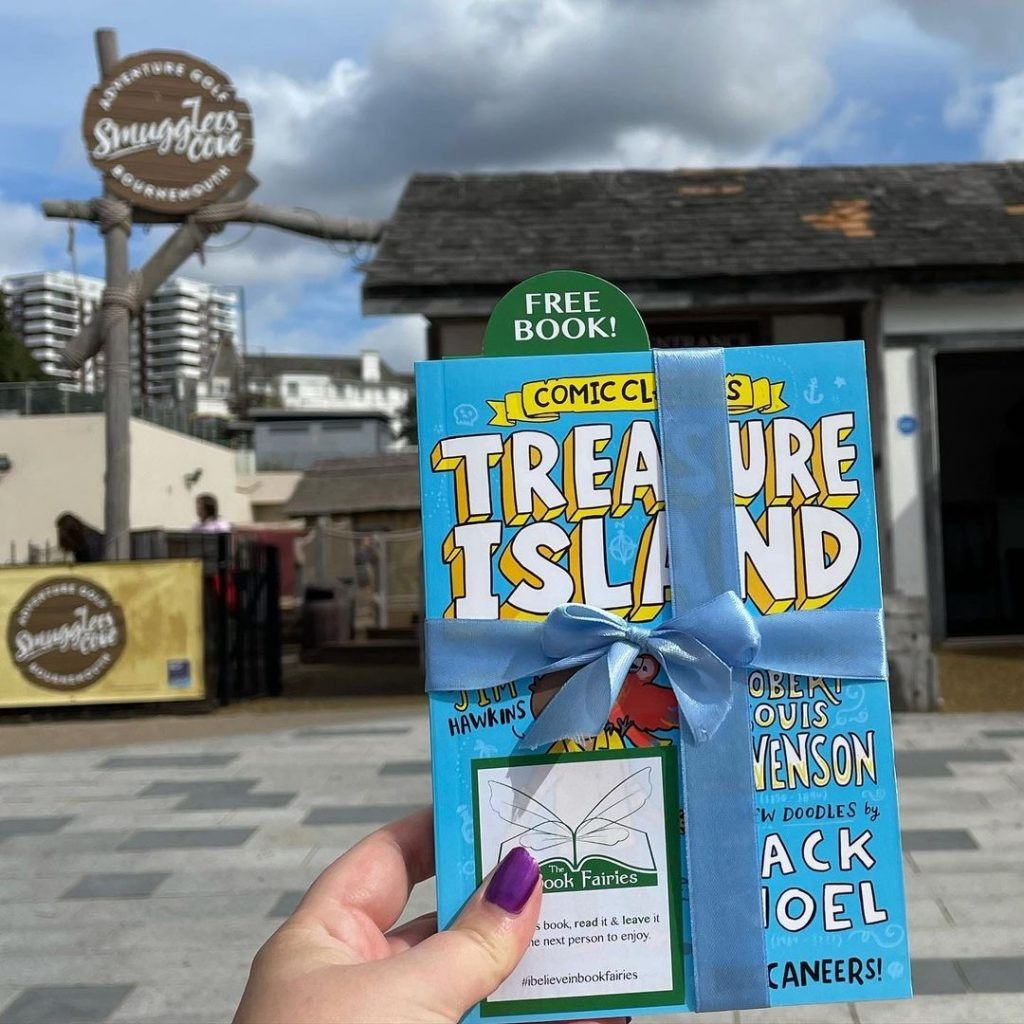 Treasure Island Comic Classics hidden by book fairies at Smugglers Cafe