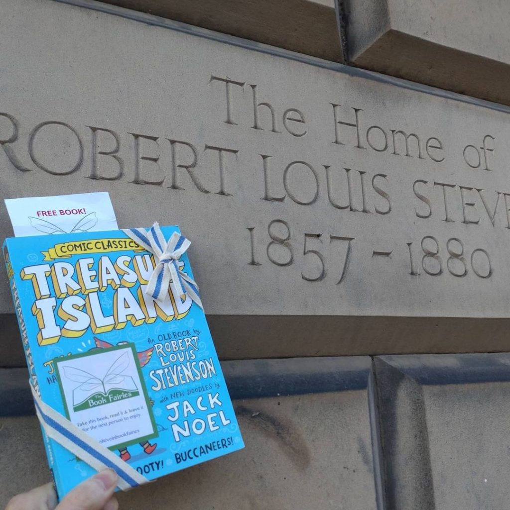 Treasure Island Comic Classics hidden by book fairies at Robert Louis Stevenson's home