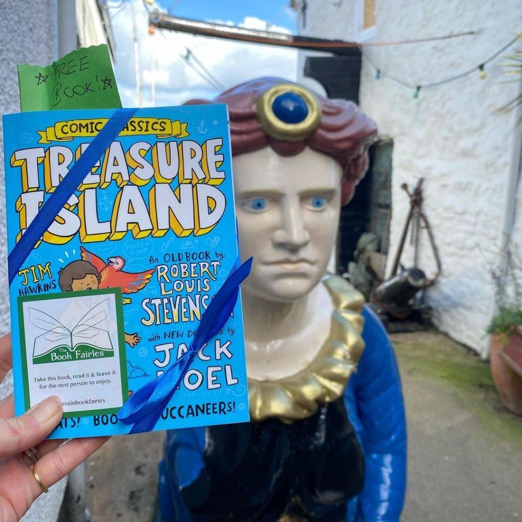 Treasure Island Comic Classics hidden by book fairies at a maritime museum