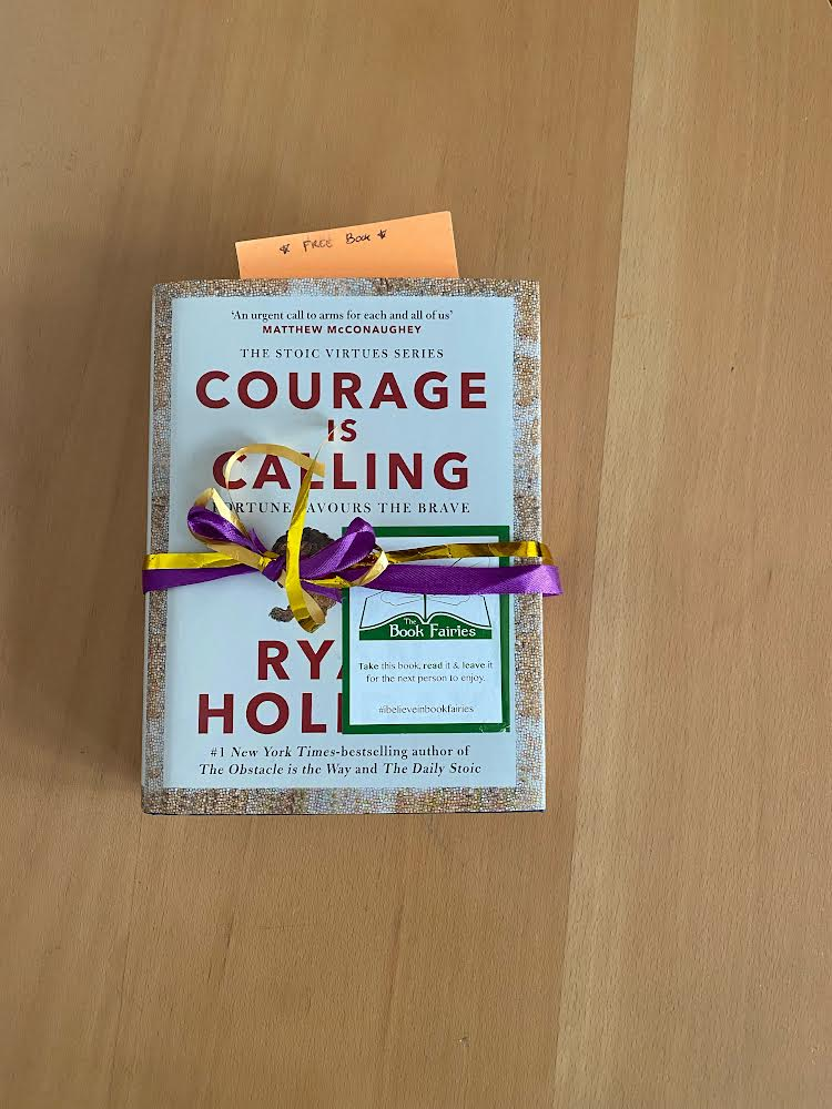 Courage is Calling by Ryan Holiday hidden by The Book Fairies - book found
