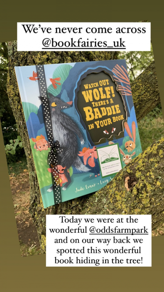 Watch Out Wolf There's A Baddie In Your Book - hidden by book fairies - book found