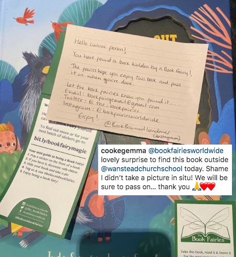 Watch Out Wolf There's A Baddie In Your Book - hidden by book fairies - book found 5