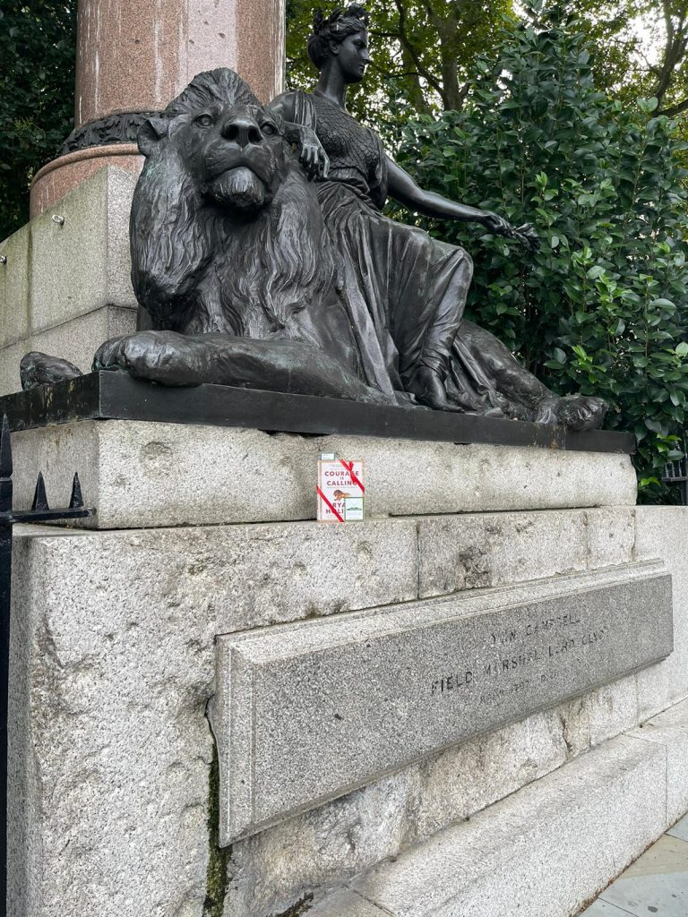Courage is Calling by Ryan Holiday hidden by The Book Fairies - Waterloo lion